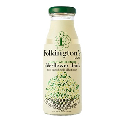 Picture of *FOLKINGTONS* ELDERFLOWER 250ML **BOTTLE**  X 12