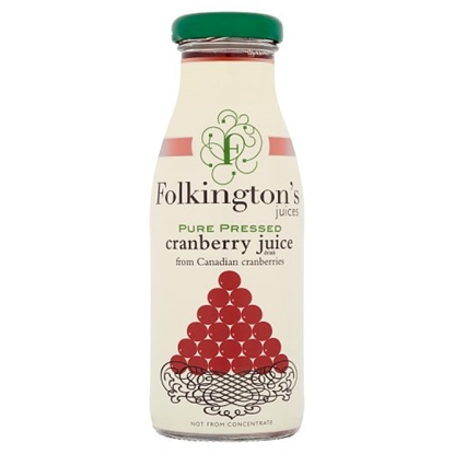 Picture of *FOLKINGTONS*CRANBERRY 250ML **BOTTLE**  X 12