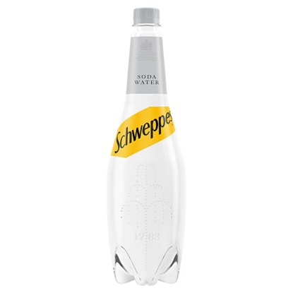 Picture of SCHWEPPES SODA WATER 1LTRE X 6