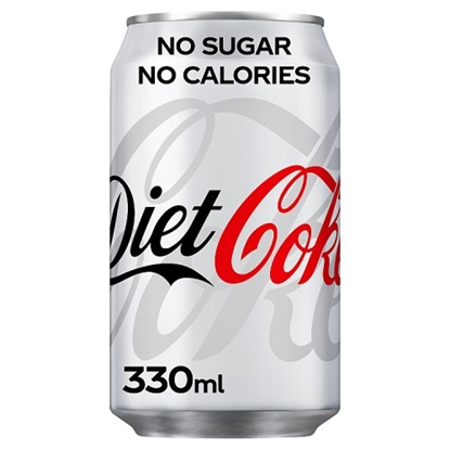 Picture of DIET COKE CANS 330MLS X 24