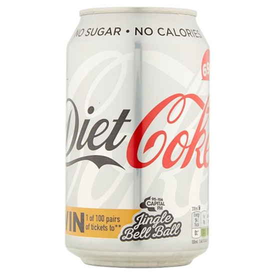 Picture of PM 69P DIET COKE CANS 330ML X 24