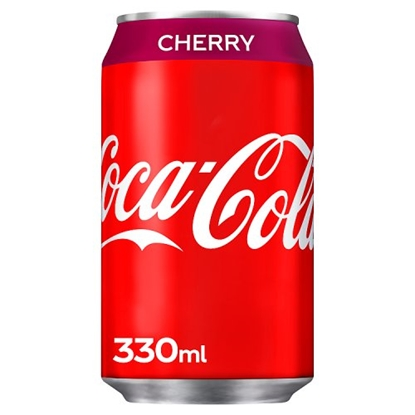 Picture of COKE *CHERRY* CANS 330ML X 24