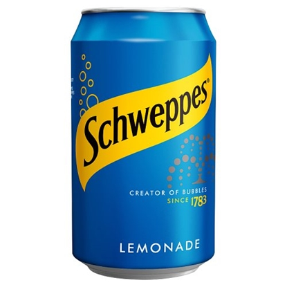 Picture of SCHWEPPES LEMONADE CANS 330ML X 24