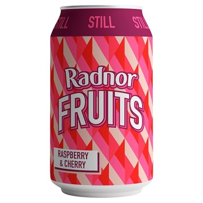 Picture of RADNOR FRUITS RASPBERRY/CHERRY CAN 330ML X 24