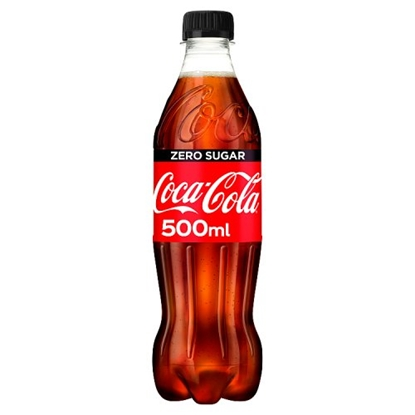 Picture of COKE *ZERO* 500MLS BOTTLES  X 12