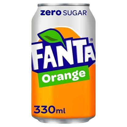 Picture of FANTA ORANGE *ZERO* 330ML CANS X 24