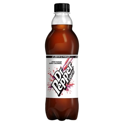 Picture of PM £1 DR PEPPER *ZERO* 500ML BOTTLE x 12