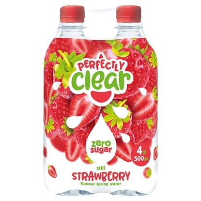 Picture of PERFECTLY CLEAR STRAWBERRY *4 PACK* 500ML X 6