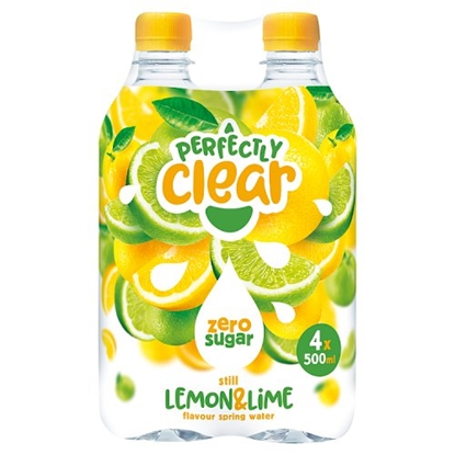 Picture of PERFECTLY CLEAR LEMON & LIME *4 PACK* 500ML X 6