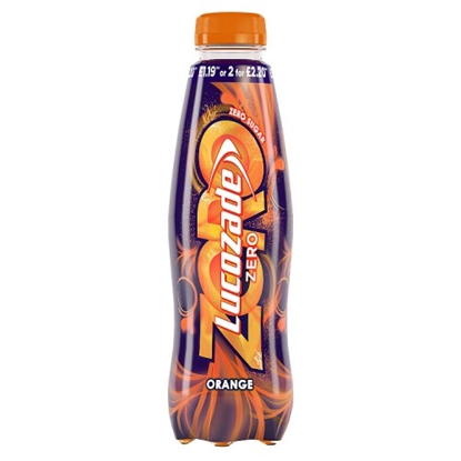 Picture of LUCOZADE ZERO ORANGE 380MLx 24