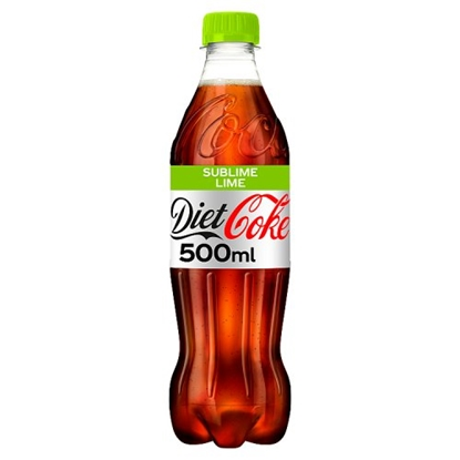 Picture of  COKE *DIET* LIME 500ML BOTTLE  X 12