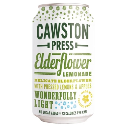 Picture of CAWSTON PRESS ELDERFLOWER LEMONADE 330ML CANS x24