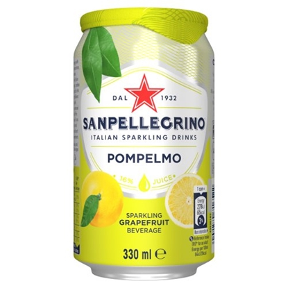 Picture of SAN PELLEGRINO GRAPEFRUIT CANS 330ML x 24