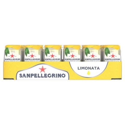 Picture of SAN PELLEGRINO LEMON CANS 330ML x 24