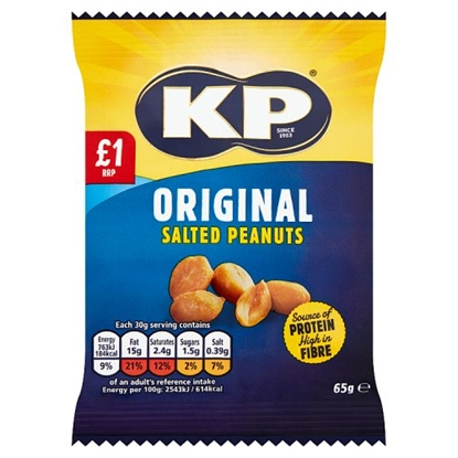 Picture of PM £1 KP SALTED NUTS 65G(BOX)x12