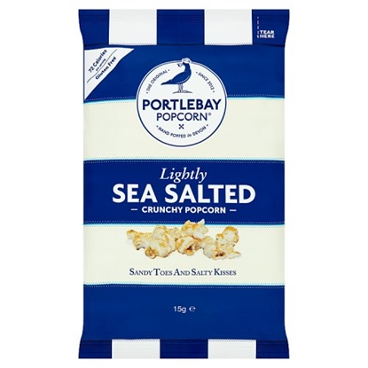 Picture of PORTLEBAY LIGHTLY SALTED POPCORN 15G x18