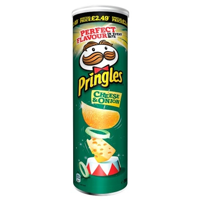 Picture of PM £2.99 PRINGLES CHEESE & ONION  x 6