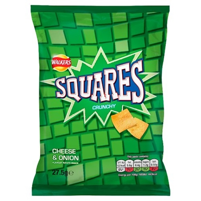 Picture of SQUARE CRISPS CHEESE & ONION x 32
