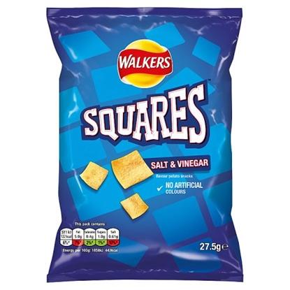 Picture of SQUARE CRISPS SALT & VINEGAR x 32