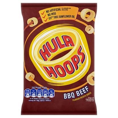Picture of HULA HOOPS BARBECUE BEEF X 32