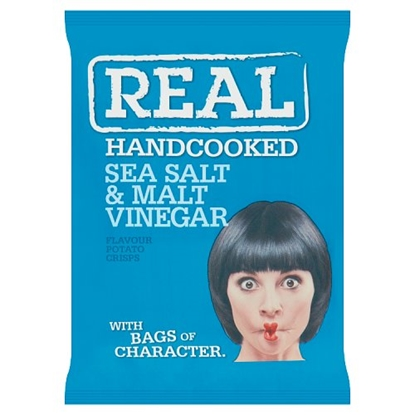 Picture of REAL CRISPS SALT & VINEGAR 35G x 24