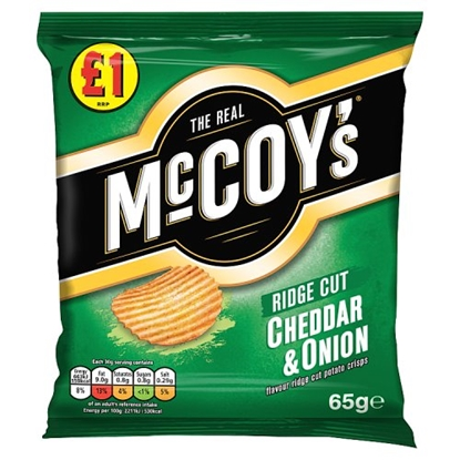 Picture of PM £1 MCCOYS CHEESE & ONION 65G X 16