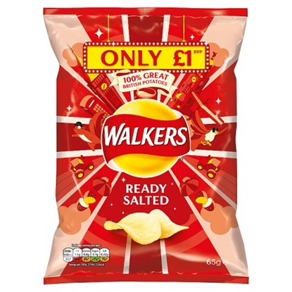 Picture of PM £1 WALKERS PLAIN 65G X 15