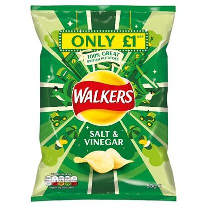Picture of PM £1 WALKERS SALT & VINEGAR 65G X 15