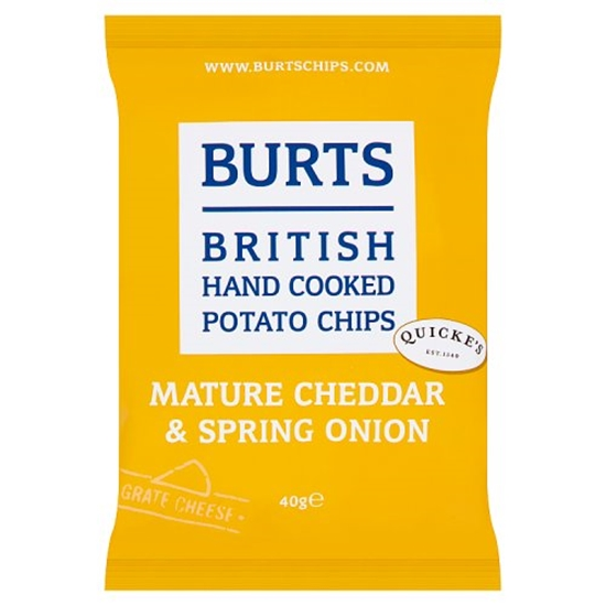 Picture of BURTS CHEDDAR & SPRING ONION *40G* x 20