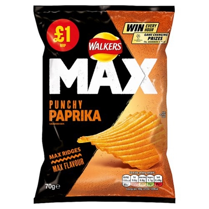 Picture of PM £1 WALKERS MAX PAPRIKA 70Gx15