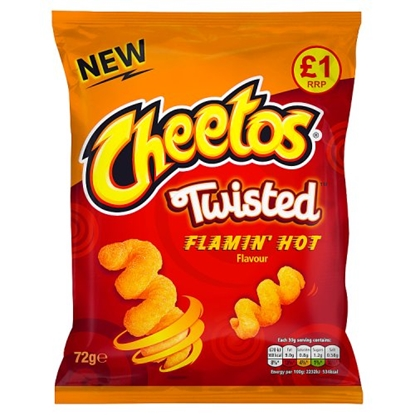 Picture of PM £1 CHEETOS TWISTED FLAMIN HOT 65g X 15