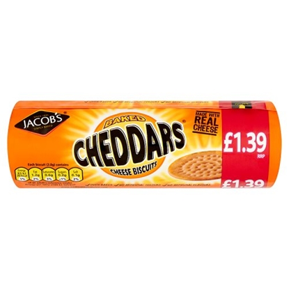 Picture of PM £1.39 JACOBS CHEDDARS 150G X 12