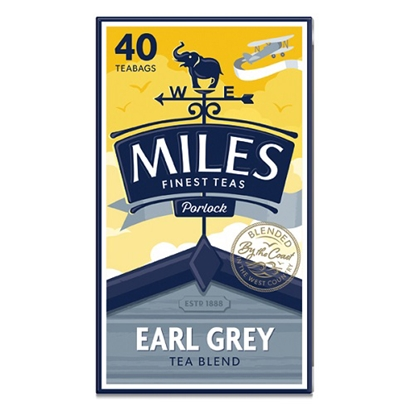 Picture of MILES EARL GREY TEABAGS 40s x6