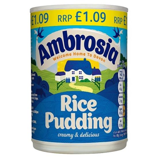 Picture of PM £1.09 AMBROSIA RICE PUDDING 400G X 12  .