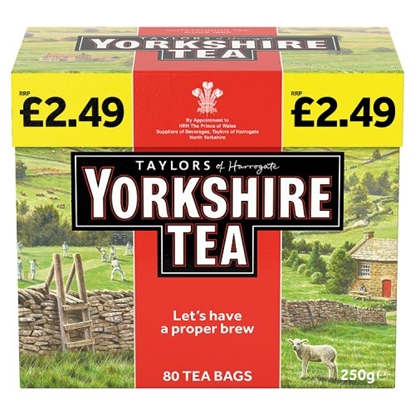 Picture of PM £2.99 YORKSHIRE TEA 80s X 5