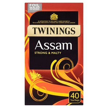 Picture of TWININGS ASSAM TEA 40's X 4