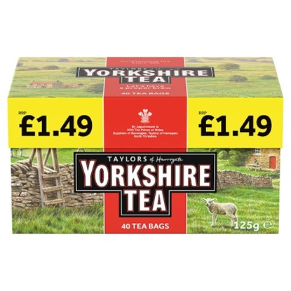 Picture of PM £1.59 YORKSHIRE TEA 40S X 5