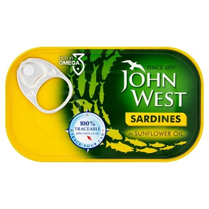 Picture of J.WEST SARDINES IN OIL 120Gx12