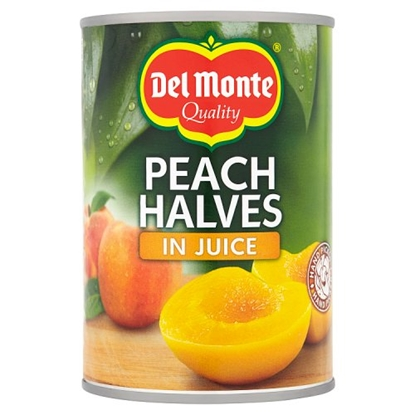 Picture of DEL MONTE PEACH HALVES IN JUICE 415G X 12