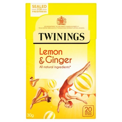 Picture of TWININGS LEMON/GING.TEA 20'sx4