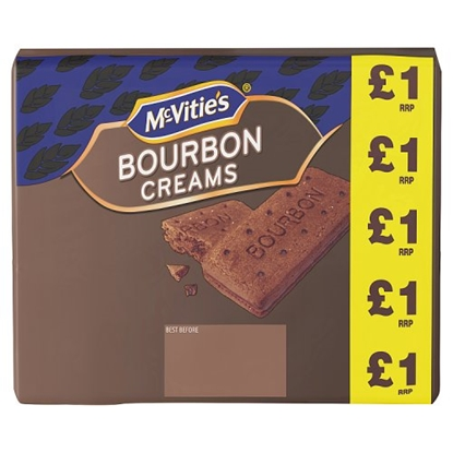 Picture of PM £1 MCVITIES  BOURBON CREAMS 300G X 12