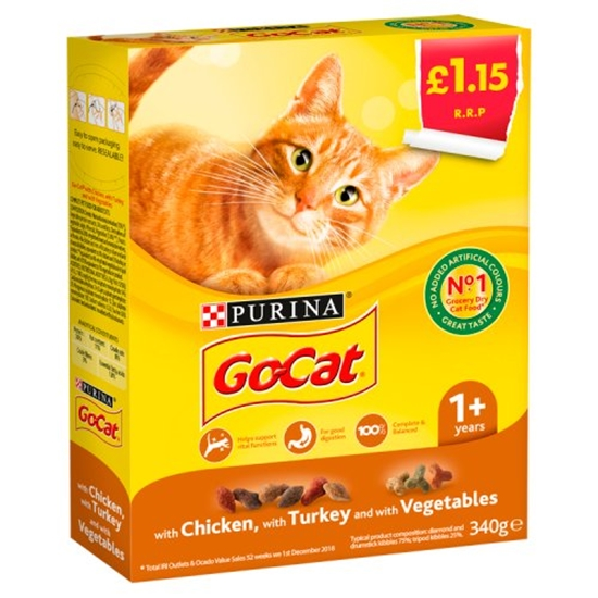 Picture of PM £1.15 GO CAT CHICK/TURK/VEG 340Gx6