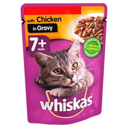 Picture of PM 3 FOR£1.19 WHISKAS SACHETS CHICKEN (GRAVY) x 24