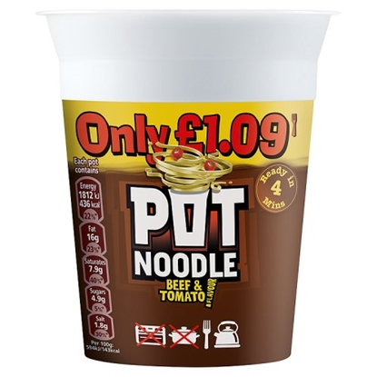 Picture of PM £1.19 POT NOODLE BEEF & TOMATO