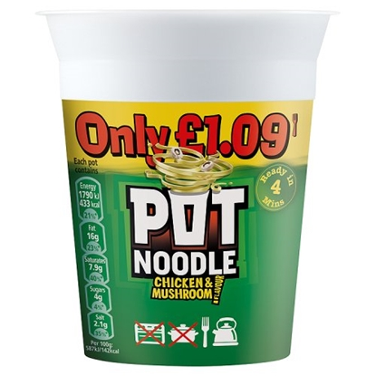 Picture of PM £1.19 POT NOODLE CHICKEN & MUSHROOM X 12