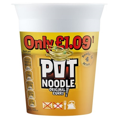 Picture of PM £1.19 POT NOODLE ORIGINAL CURRY X 12