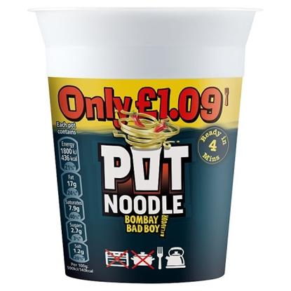 Picture of PM £1.19 POT NOODLE BOMBAY BAD BOY X 12