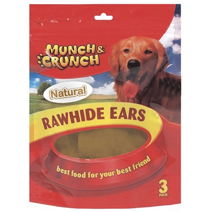 Picture of RAWHIDE EARS NATURAL 2PACK x24