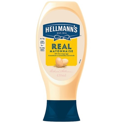 Picture of HELLMANS SQUEEZY MAYO 430G X 8