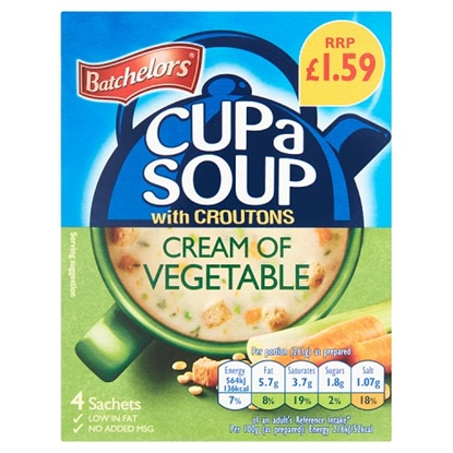 Picture of PM £1.59 BATCHELORS CUP A SOUP CREAM OF VEG 122GX9